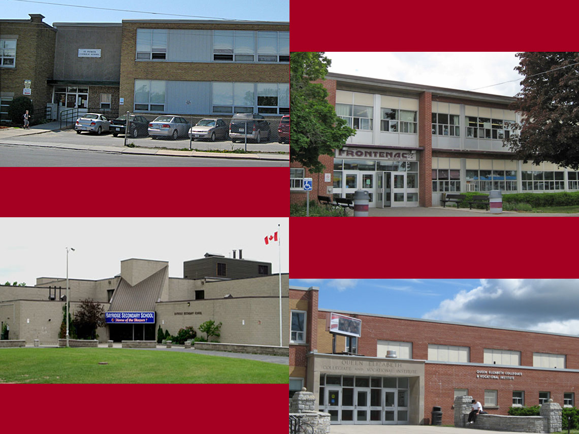 St. Patrick's Catholic Elementary School (2004) | Frontenac (2006) | Bayridge (2008) and QECVI {2004) Secondary Schools